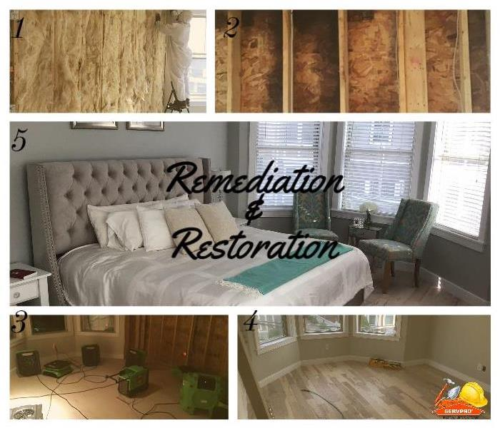 remediation and reconstruction steps of bedroom renovation