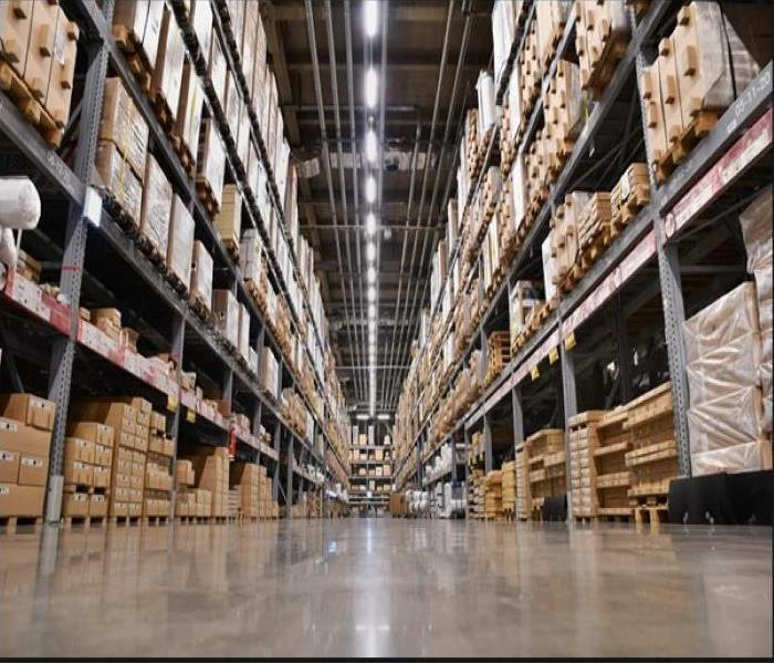 image of warehouse with pallet storage on racks