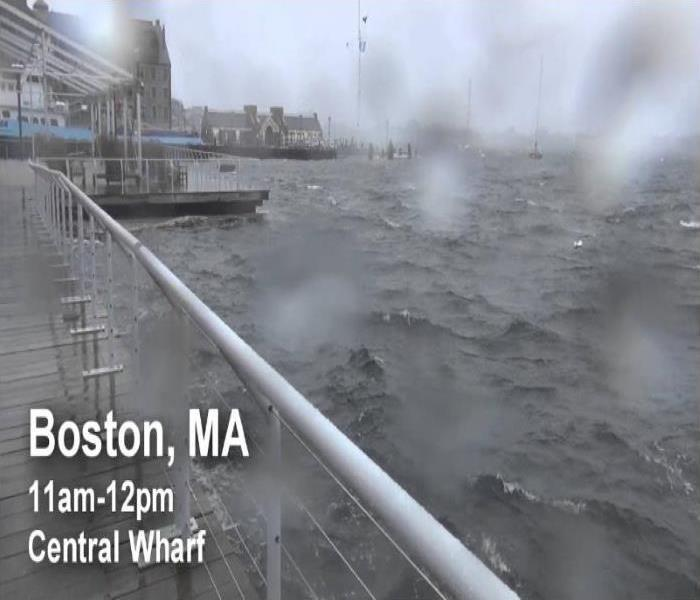 severe weather ruffling waves in Boston harbor